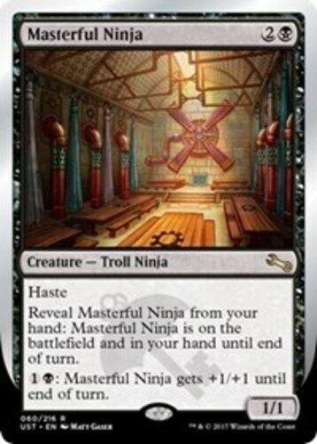 English x1 Masterful Ninja MTG Unstable R M//NM