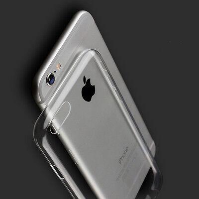 Coque Housse etui Silicone Crystal iPhone 7/6/S/5/4 + Film vitre Verre Trempé