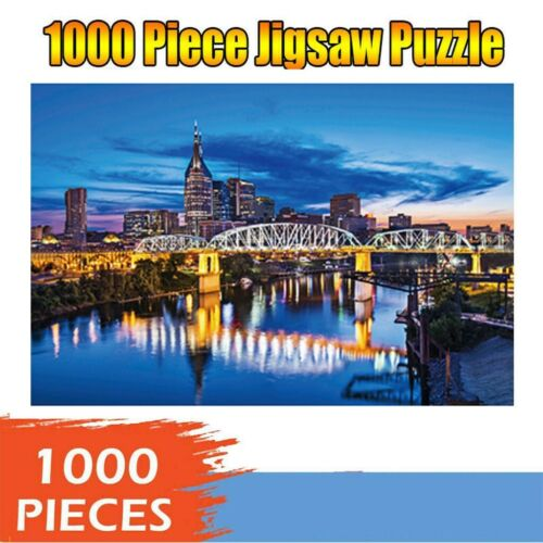 1000 Piece Trefl Floor Jigsaw Puzzles Toy Game World Cities Overhead View Toy