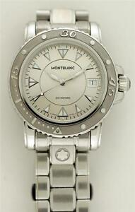 f72e4539281 Image is loading Montblanc-Diver-Meisterstuck-Stainless-Steel-Sport -200m-Ref-