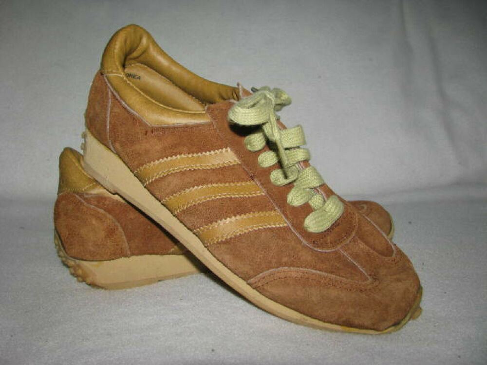 Vintage Adidas homme Sz 6 USA Olympics Brown Suede Sneakers chaussures JC Penny