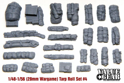 1//56 scale 26 Pieces Tarps /& Crates #4 28mm Wargaming Tents