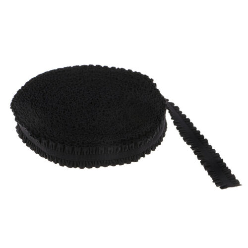 Lace Elastic Band Frilly Edge Elastic Ribbon for Clothing Sewing Trim Black