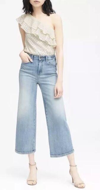 611a7eb3 Banana Republic Women SZ XL Top Floral Lace Ivory One Shoulder Ruffle  Flounce