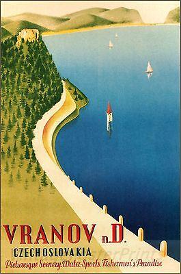 Vranov Czechoslovakia 1930 Vintage Poster Art Print Travel Czech Republic