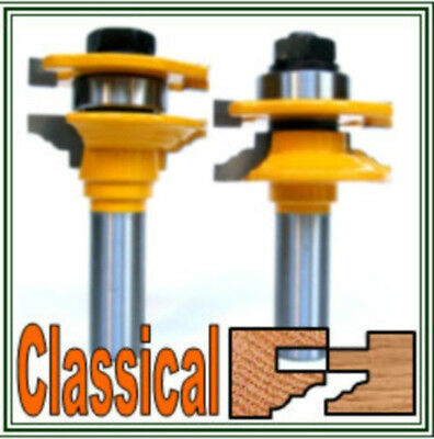 "2pc 1/2""SH Matched Classical Rail & Stile Router Bit Set sct-888"