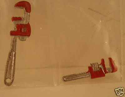 Other Dollhouse Miniatures 1 /12 Scale Dollhouse Set Of Pipe Wrenches 1 1/8'' Long