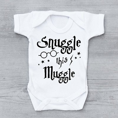 Snuggle This Muggle Funny Harry Potter Unisex Baby Grow ...