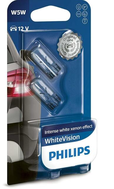 Philips WhiteVision Xenon-Effekt W5W Autolampe 12961NBVB2 Doppelblister Tuning