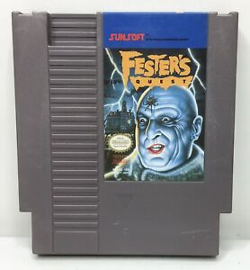 Nintendo-NES-Fester-s-Quest-Video-Game-Cartridge-Authentic-Cleaned-Tested