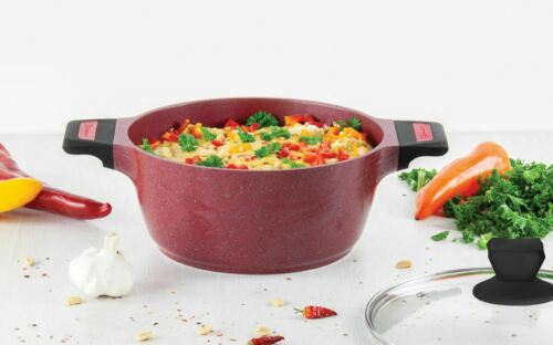 Sq Professional Non Stick Induction Insulated Handle Stockpot Pan Pots Casserole