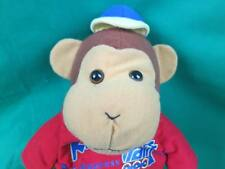 KIDS EXPRESS TRAIN WWW.EXPRESSTRAIN.ORG RED T-SHIRT BLUE HAT PLUSH BROWN MONKEY