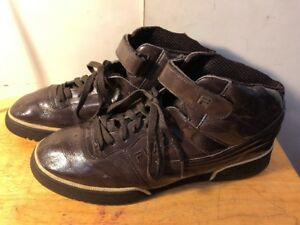 Image is loading Fila-High-Tops-Brown-Casual-Shoes-Size-13- ebb52e86005b