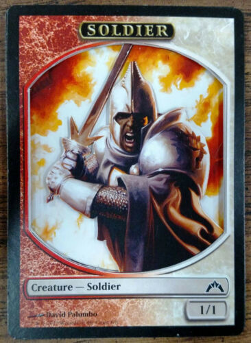 Magic the Gathering Soldier Token Red White x4
