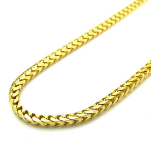 20-24-034-1-7mm-10k-Yellow-SOLID-Gold-Skinny-Franco-Box-Snake-Chain-Necklace-Mens