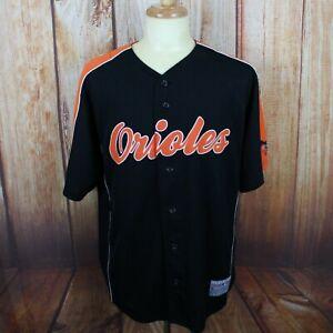 quality design 2491d 5be4d Details about Baltimore Orioles Mens XL Adam Jones Jersey Black Orange 10  Sewn Embroidered MLB