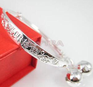 1-paire-Bebe-Enfant-Bracelet-Bracelet-Bijoux-en-argent-sterling-CHAUD-huq