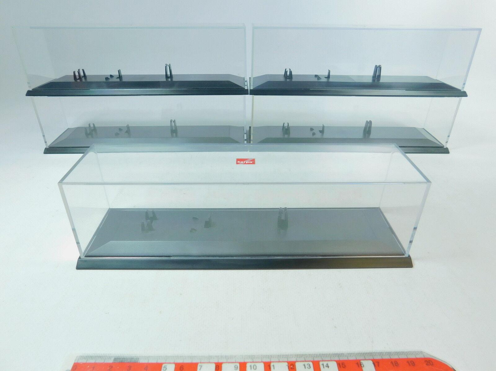 AV15-2x Herpa H0 Vitrine für Sattelzug Lastzug Hängerzug LKW, sehr gut