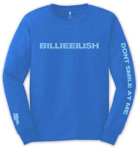 Billie-Eilish-039-Don-039-t-Blame-Me-039-Blue-Long-Sleeve-Shirt-NEW-amp-OFFICIAL