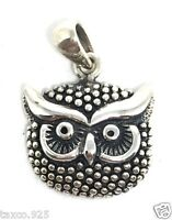 VINTAGE STYLE MOLINA TAXCO MEXICAN 925 STERLING SILVER OWL PENDANT MEXICO
