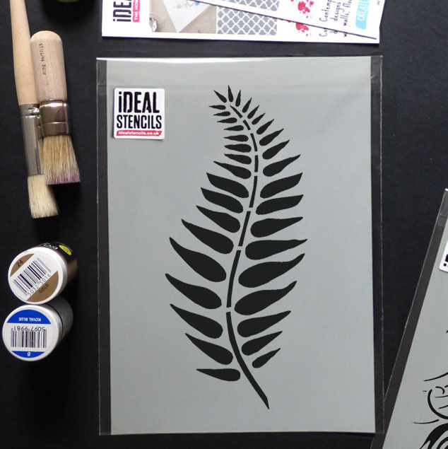 Fern Leaf Stencil Floral Wall Home Décorating Art Craft Paint Ideal Stencils