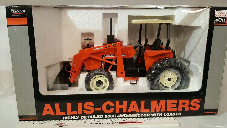 ALLIS CHALMERS 6060 avec AFSF & Loader 1 16 diecast farm tractor réplique par specCast