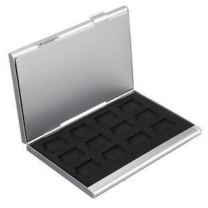 aluminium speicherkarte aufbewahrungskoffer box halter f r. Black Bedroom Furniture Sets. Home Design Ideas