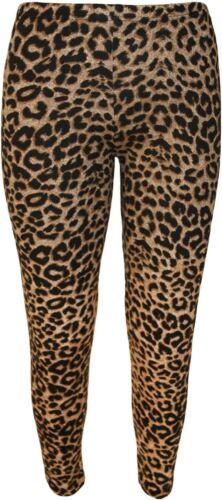 New Ladies Animal Graphic Print Detail Plus Size Trousers Maxi Swing Dress Pants