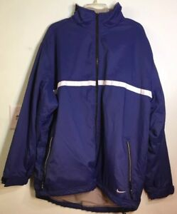 01a4d74569b3 Mens Nike Full Zip Fleece Lined Blue Jacket Size XL Like New Big ...