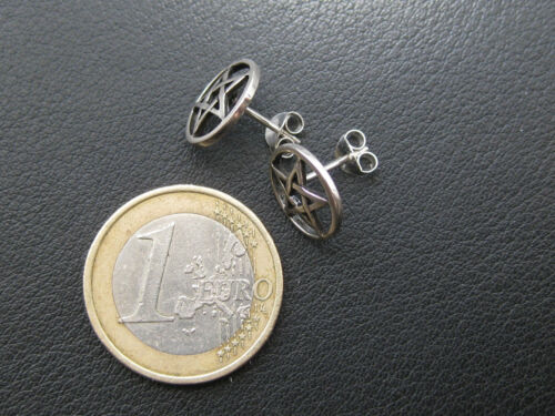 413 Pentagramm Ohrstecker Paar 925/'er Silber etNox