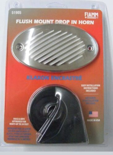 FIAMM 51905-23 Hidden Boat Horn Water Resistant Liner Stainless Steel Grill