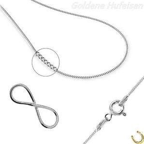 Unendlichkeit ANHÄNGER mit KETTE 925 Echt Silber Infinity Geschenkidee gh1a693v