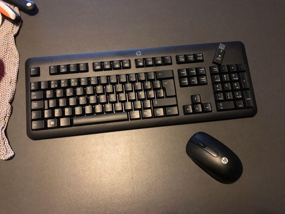 Tastatur, trådløs, HELT NYT HP Tastatur+Mus