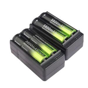 4x-Skywolfeye-3-7-Li-Ion-18650-Rechargeable-Batteries-5800mAh-Battery-Charger