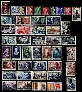 L-ANNEE-1955-Complete-Neufs-Cote-145-Lot-Timbres-France-n-1008-a-1049