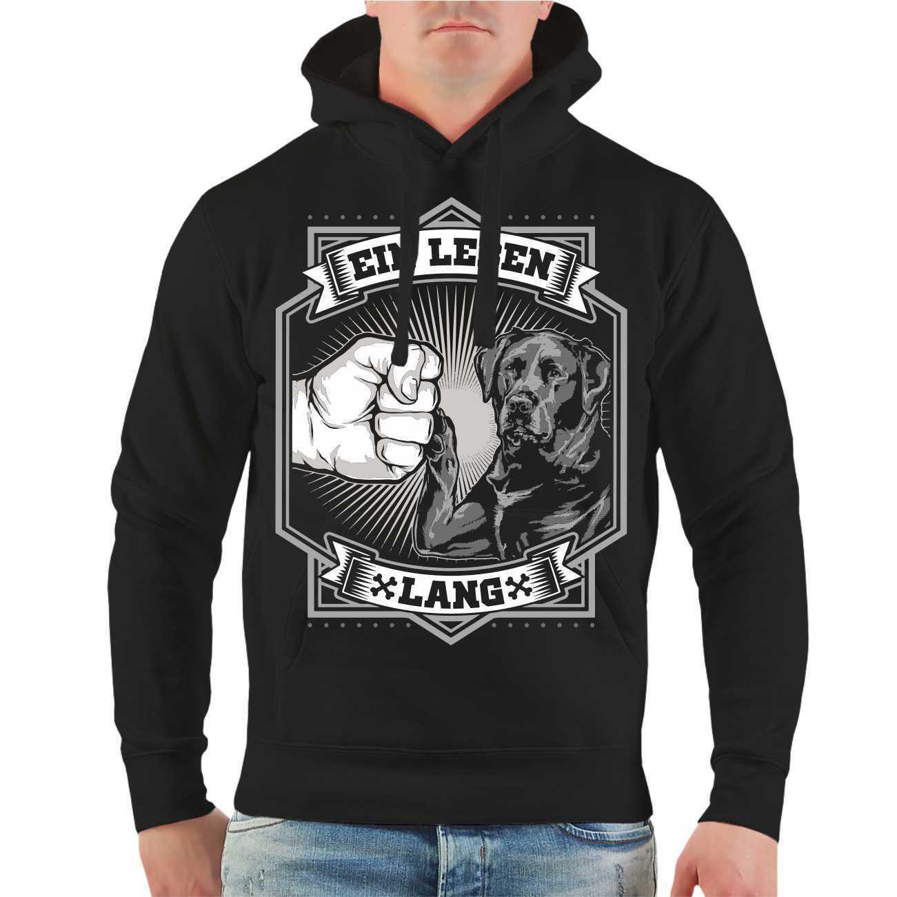 Kapuzenpullover Sweatshirt Hoodie Labrador Retriever Schwarz Größe S - 8XL