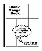 Blank Manga Book: Variety Of Templates White Cover7.5 X 9.25 10... Free Shipping