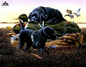 Dog-Days-by-Phillip-Crowe-Duck-Hunting-Dogs-Signed-Numbered-Limited-Paper-Print