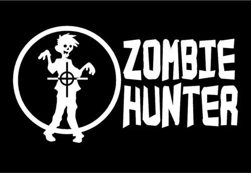 Zombie Hunter Vinyl Decal Gun Sights funny car truck window sticker graphic