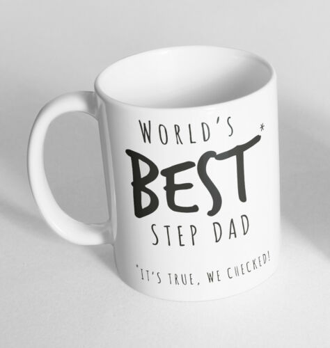 World/'s Best Step Dad It/'s Fathers Day Novelty Ceramic Cup Gift Tea Coffee Mug