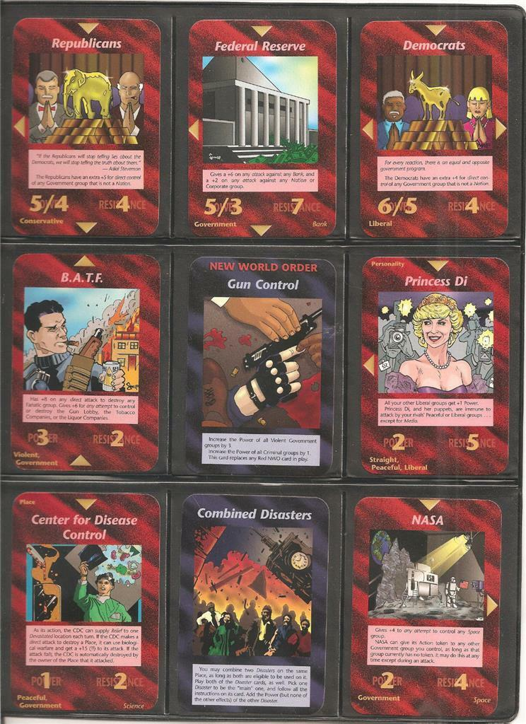 All 100 UnCommon Full Set     Illuminati INWO Card Game   New World Order fd64ed