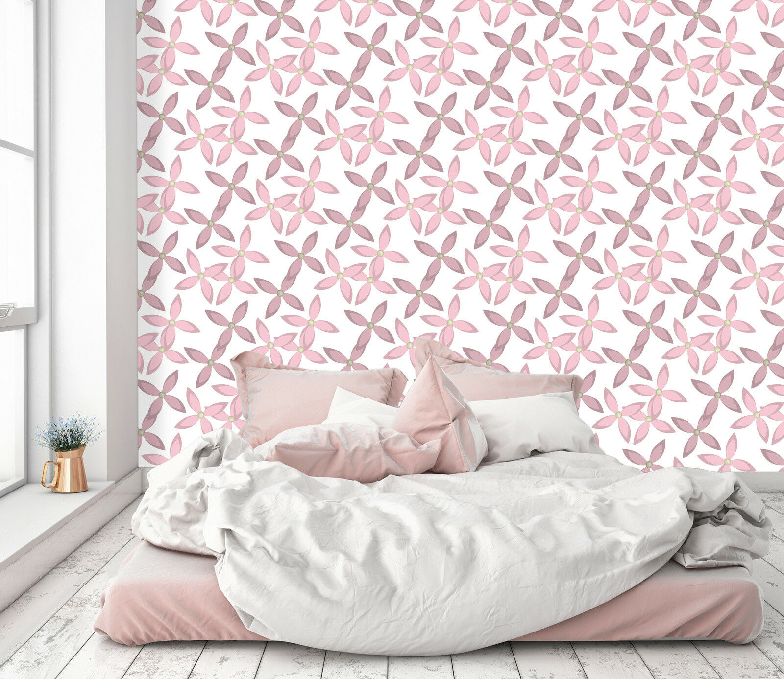 3D Pink Petal Art 2 Wallpaper Mural Print Wall Indoor Wallpaper Murals UK Summer
