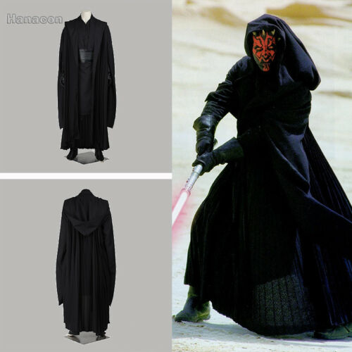 Star Wars Jedi Knight Darth Maul Cosplay Halloween Costume Full Set Clothing Set