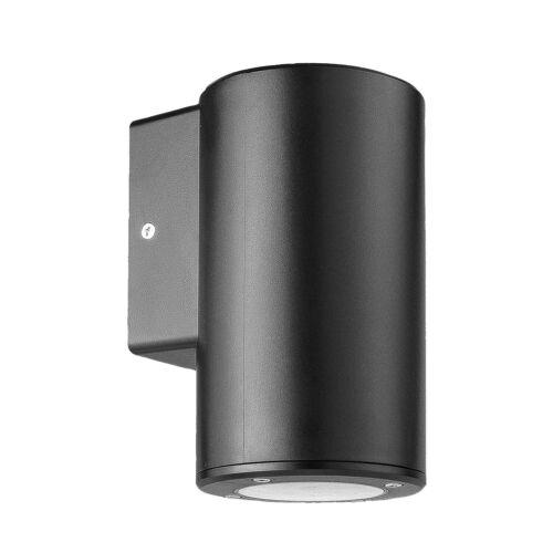 Round Modern Black Down Wall Light GU10 IP44 Outdoor LED Security Lamp Garden