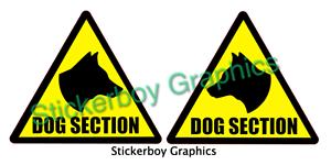 DOG SECTION Sticker Head stickers K9 DOG UNIT SECURITY SIA PATROL 250mm x 2
