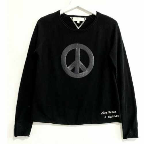 """Lisa Todd """"Give Peace A Change"""" cashmere sweater,"""
