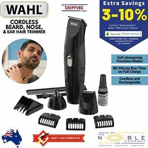 Wahl-Beard-Hair-Clipper-Shaver-Cordless-Electric-Trimmer-Nose-Ear-Mens-Grooming