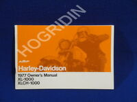 1977 Amf Harley Davidson Sportster Xl 1000 Xlch Owners Manual