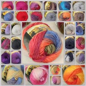 Sale-New-1Ball-x50g-Chunky-Hand-woven-Rainbow-Colorful-Knitting-Scores-Wool-yarn