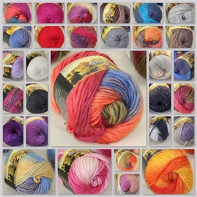 Sale New 1Ball x50g Chunky Hand-woven Rainbow Colorful Knitting Scores Wool yarn